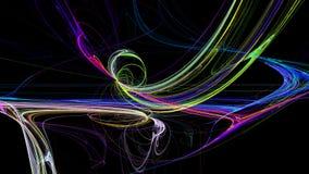 De kleurrijke lijnen vatten 3d achtergrond samen Stock Foto
