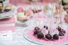 De kleurrijke Lijst van het Huwelijkssuikergoed met al Royalty-vrije Stock Afbeelding