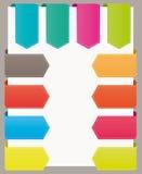 De kleurrijke linten van de referentieswebsite. Royalty-vrije Stock Foto's