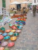 De kleurrijke markt van keramieksantanyi Stock Foto