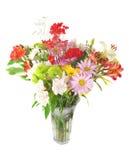 De kleurrijke mengeling van de zomerbloemen. royalty-vrije stock afbeeldingen