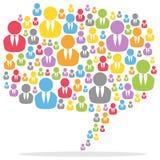 De kleurrijke Mensen van de Bel van de Toespraak Royalty-vrije Stock Afbeelding