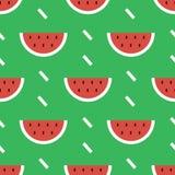 De kleurrijke moderne vlakke achtergrond van het de zomer naadloze patroon van de ontwerpwatermeloen Stock Foto's