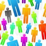 De kleurrijke Naadloze Achtergrond van Mensen Stock Afbeelding