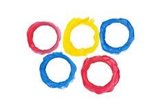 De kleurrijke numerieke karakters van de Klei. Stock Foto