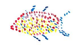De kleurrijke numerieke karakters van de Klei. Royalty-vrije Stock Foto's