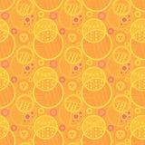 De kleurrijke oranje en gele tegel van het cirkels naadloze patroon royalty-vrije illustratie