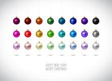 De kleurrijke Ornamenten van Kerstmis stock illustratie
