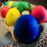 De kleurrijke Paaseieren van Glittery Royalty-vrije Stock Afbeelding