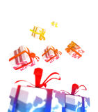 De kleurrijke Pakketten van de Valentijnskaart vector illustratie