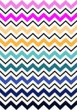 De kleurrijke Patronen van de Chevronstreep Stock Foto's