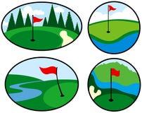 De kleurrijke Pictogrammen van het Golf Stock Foto