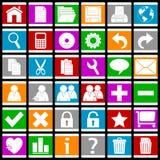 De kleurrijke Pictogrammen van het Web/Eps [1] Stock Foto