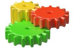 De kleurrijke plastic bouw van speelgoedtandraderen. Royalty-vrije Stock Fotografie