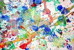De kleurrijke plonsen, kleurrijke levendige pastelkleurachtergrond, vatten kleurrijke textuur samen Royalty-vrije Stock Foto's