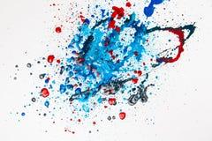 De kleurrijke Plonsen van de Verf   Royalty-vrije Stock Fotografie