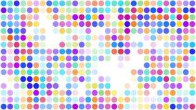 De kleurrijke punt vlakke stijl op witte achtergrond, voorzag van een lus royalty-vrije illustratie