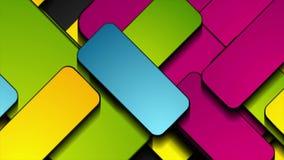 De kleurrijke rechthoeken vatten geometrische videoanimatie samen royalty-vrije illustratie