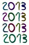 De kleurrijke reeks van de slang 2013 Stock Afbeeldingen