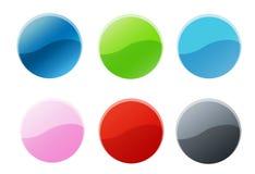 De kleurrijke Reeks van de Sticker Royalty-vrije Stock Foto