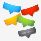 De kleurrijke Reeks van de Sticker Royalty-vrije Stock Afbeeldingen