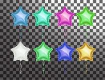 De kleurrijke reeks van de sterballon vector illustratie