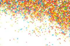 De kleurrijke regenboog bestrooit backgroung stock fotografie
