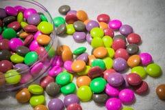 De kleurrijke regenboog van het geleisuikergoed Stock Foto