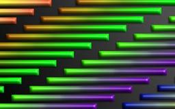 De kleurrijke regenboog verspert achtergrond - Abstract dimensionaal vormenbehang royalty-vrije illustratie