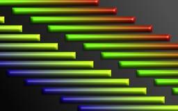De kleurrijke regenboog verspert achtergrond - Abstract dimensionaal vormenbehang stock illustratie