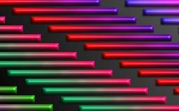 De kleurrijke regenboog verspert achtergrond - Abstract dimensionaal vormenbehang vector illustratie