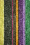 De kleurrijke rustieke achtergrond van de linnenstof Stock Foto's