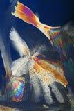 De kleurrijke samenvatting van het ijskristal stock fotografie