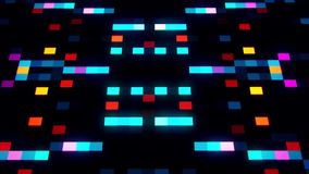 De kleurrijke sc.i-FI Kunstmatige intelligentieai Achtergrond van Vierkantenloopable stock videobeelden