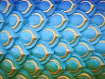 De kleurrijke serpent of draakachtergrond van de schalentextuur Stock Foto's
