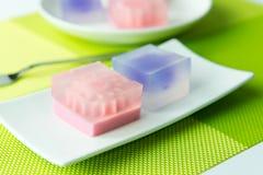 De kleurrijke snoepjes van het geleidessert Stock Foto's