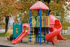 De kleurrijke Speelplaats van Kinderen Stock Afbeelding