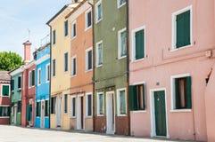 De kleurrijke stad Stock Afbeeldingen