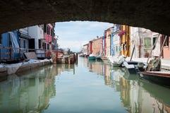De kleurrijke stad Royalty-vrije Stock Foto's