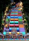 De kleurrijke stappen in Batu Caces, Mlaysia royalty-vrije stock afbeeldingen