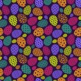 De kleurrijke stijl van het eierenpatroon met verschillend patroon voor gelukkige Pasen-decoratie Stock Afbeelding