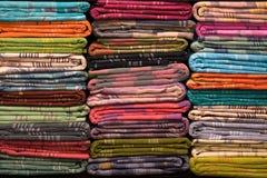 De kleurrijke stoffenbroodjes, sluiten omhoog Royalty-vrije Stock Fotografie
