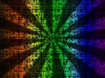 De kleurrijke Stralenachtergrond toont Heldere Stralen en Lijnen Stock Afbeeldingen