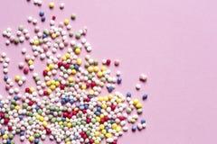 De kleurrijke suiker bestrooit punten royalty-vrije stock afbeeldingen