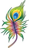 De kleurrijke tatoegering van de pauwveer vector illustratie