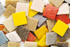 De kleurrijke tegels van het glasmozaïek Stock Foto