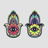 De Kleurrijke Tekening van de Hamsahand Royalty-vrije Stock Foto's
