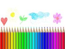 De kleurrijke tekening van het kind Stock Afbeelding