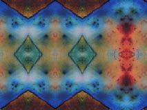 De kleurrijke textuur van de batikstof Stock Afbeeldingen