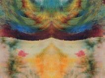 De kleurrijke textuur van de batikstof Stock Fotografie